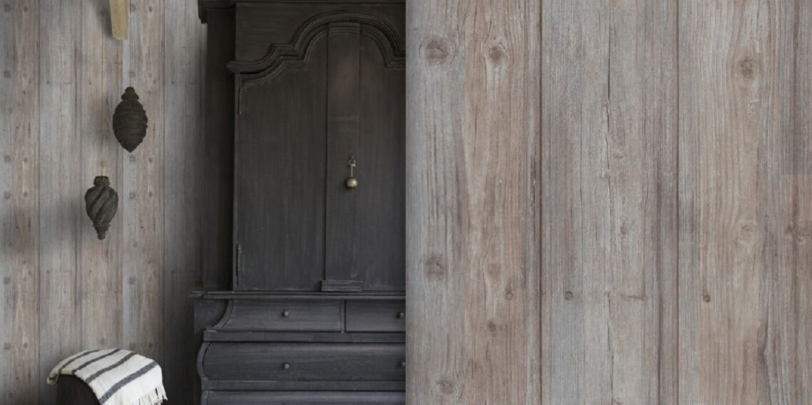 Tapete Rustikal vlies tapete antik holz muster rustikal braun grau royal wood