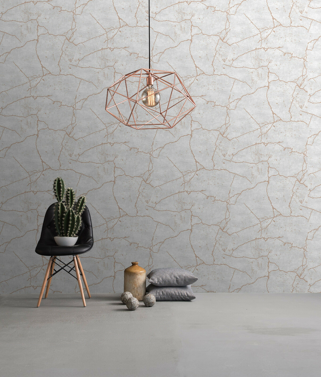 Vlies tapete beton stein kintsugi optik beige grau rose for Tapeten in gold optik
