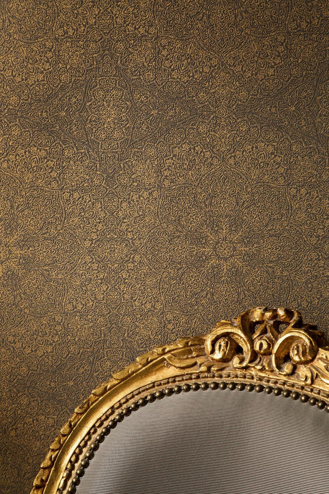 vlies tapete mandala muster struktur tapete braun gold chacran 18412 - Tapete Braun Gold