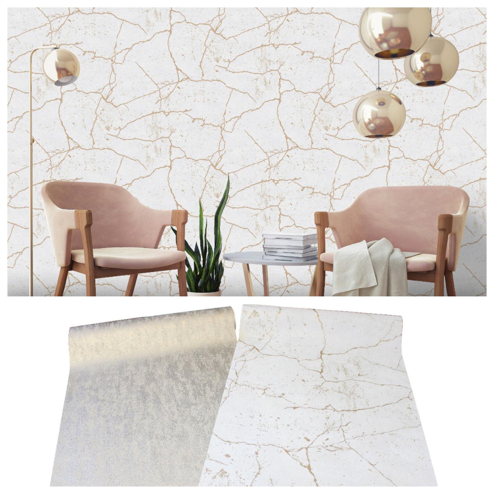 vlies tapete beton stein kintsugi optik creme beige uni. Black Bedroom Furniture Sets. Home Design Ideas