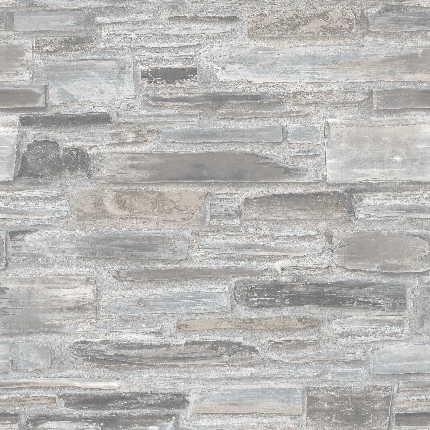 Vlies Tapete Bruchstein Mauer Ziegelstein Klinker grau weiß terra A28902 brick