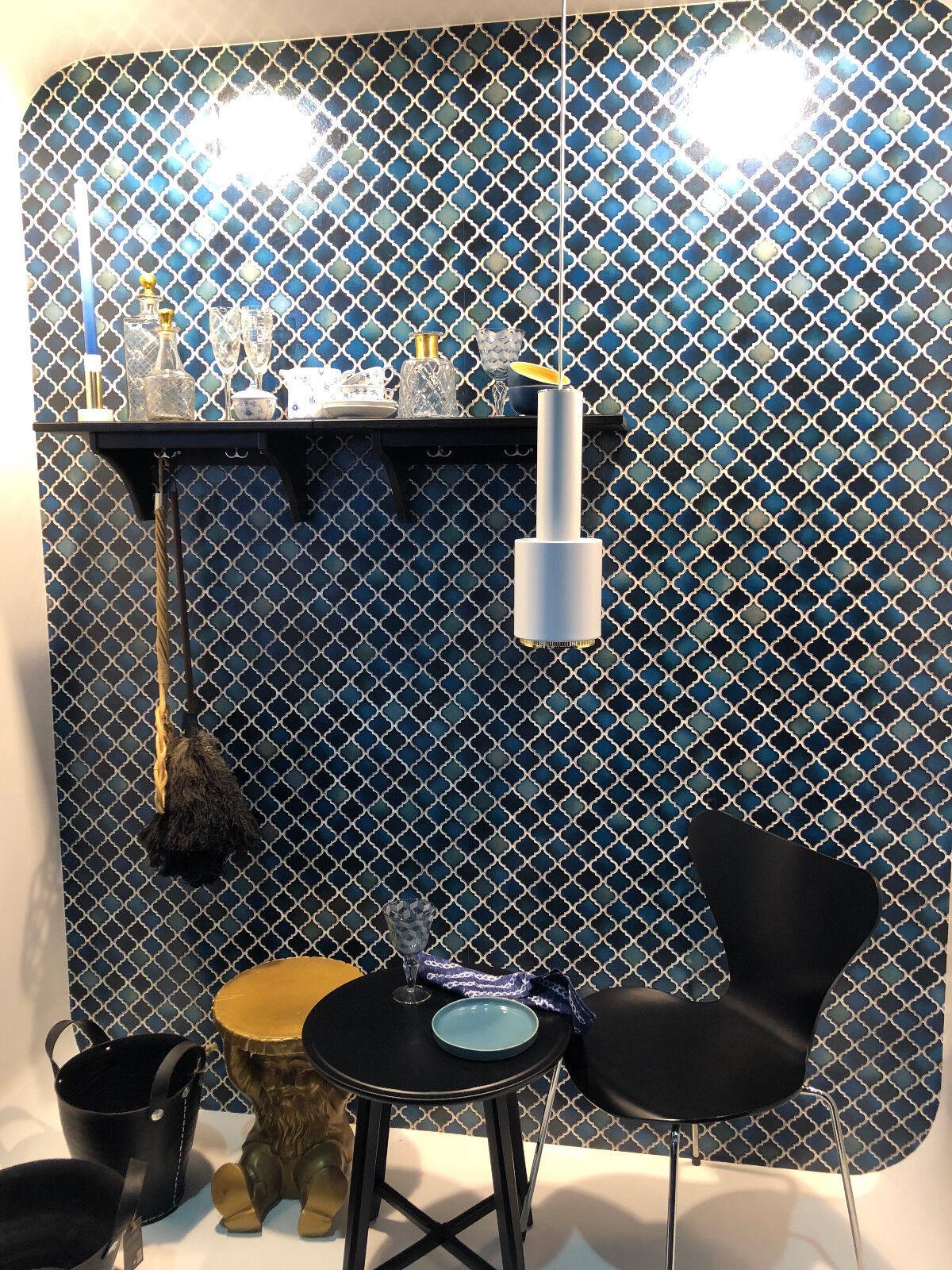 ... Vlies Tapete Stein Keramik Mosaik Fliesen Florentiner Optik Petrol  Schwarz Grau 4 ...