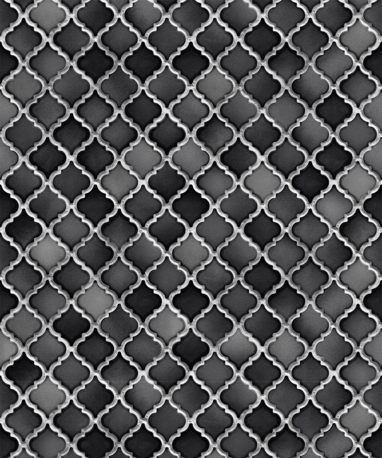 Vlies Tapete Stein Keramik Mosaik Fliesen Florentiner Optik Schwarz - Florentiner fliesen