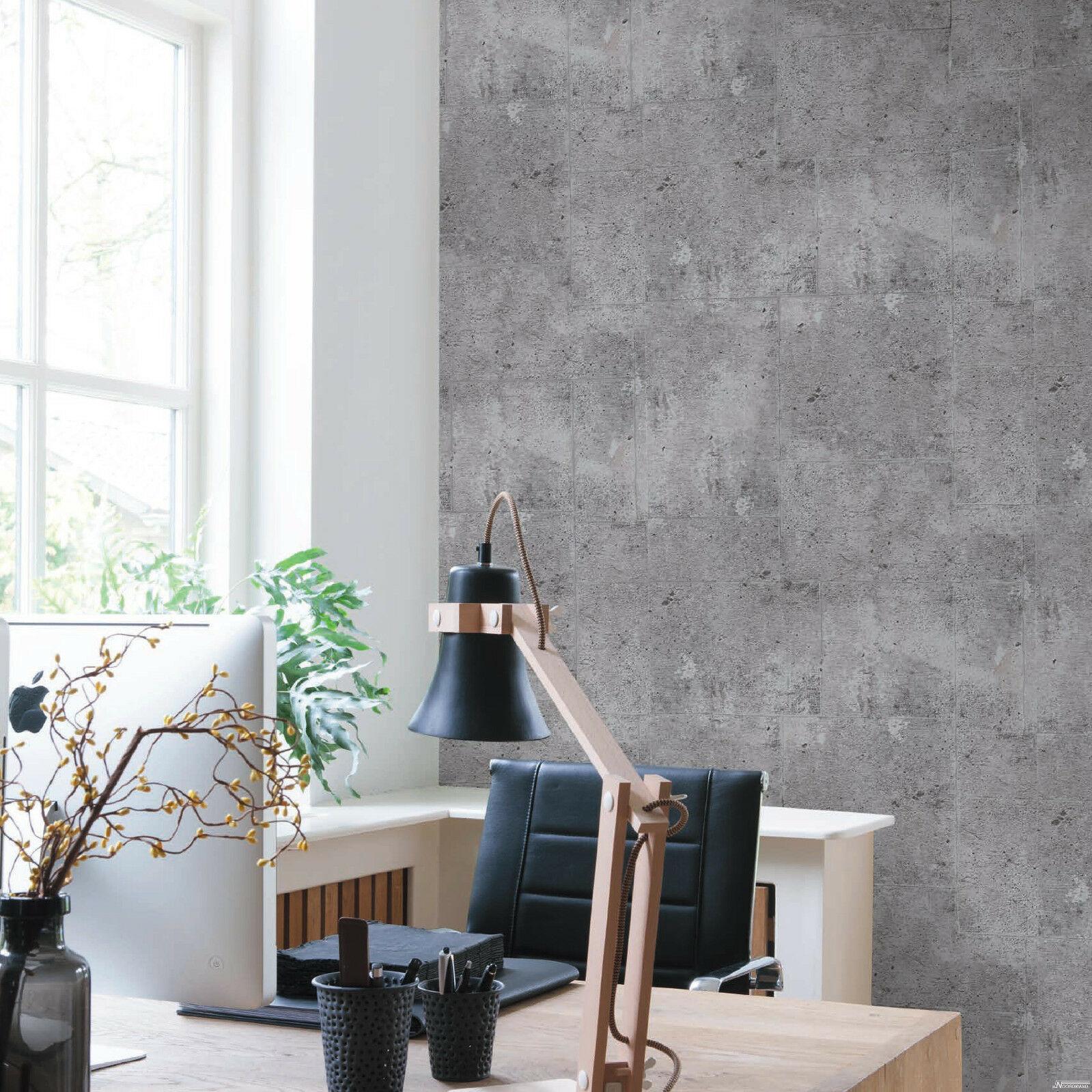Betonoptik Wand vliestapete beton optik grau betontapete industrial loft stein wand