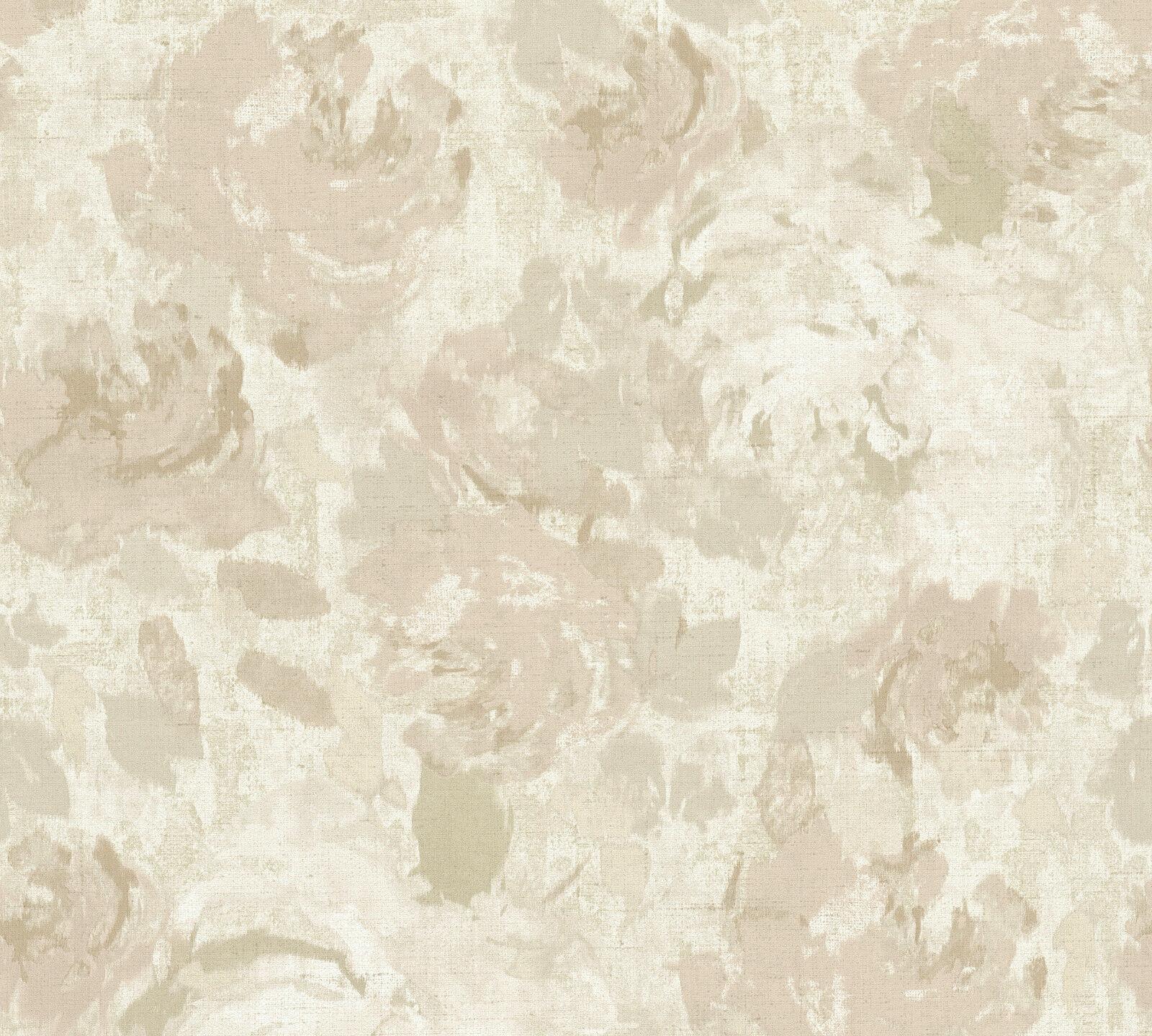 Turbo Florales Muster Vliestapete beige creme grau Character 36772-3 FB74