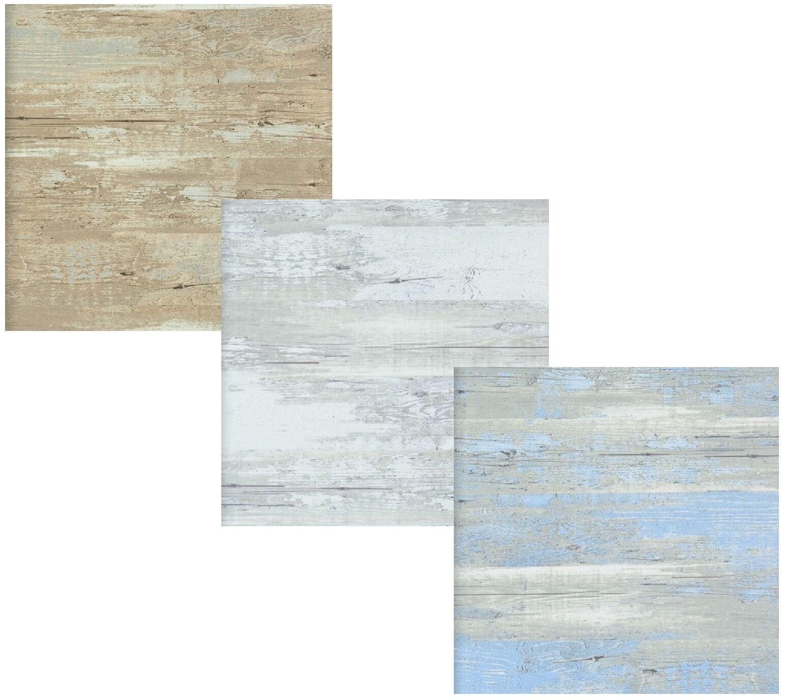Vlies Tapete Antik Holz Rustikal Braun Grau Blau Weiss Bretter