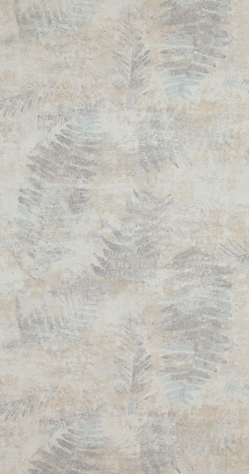 vlies tapete stein beton bl tter zweige creme beige grau. Black Bedroom Furniture Sets. Home Design Ideas