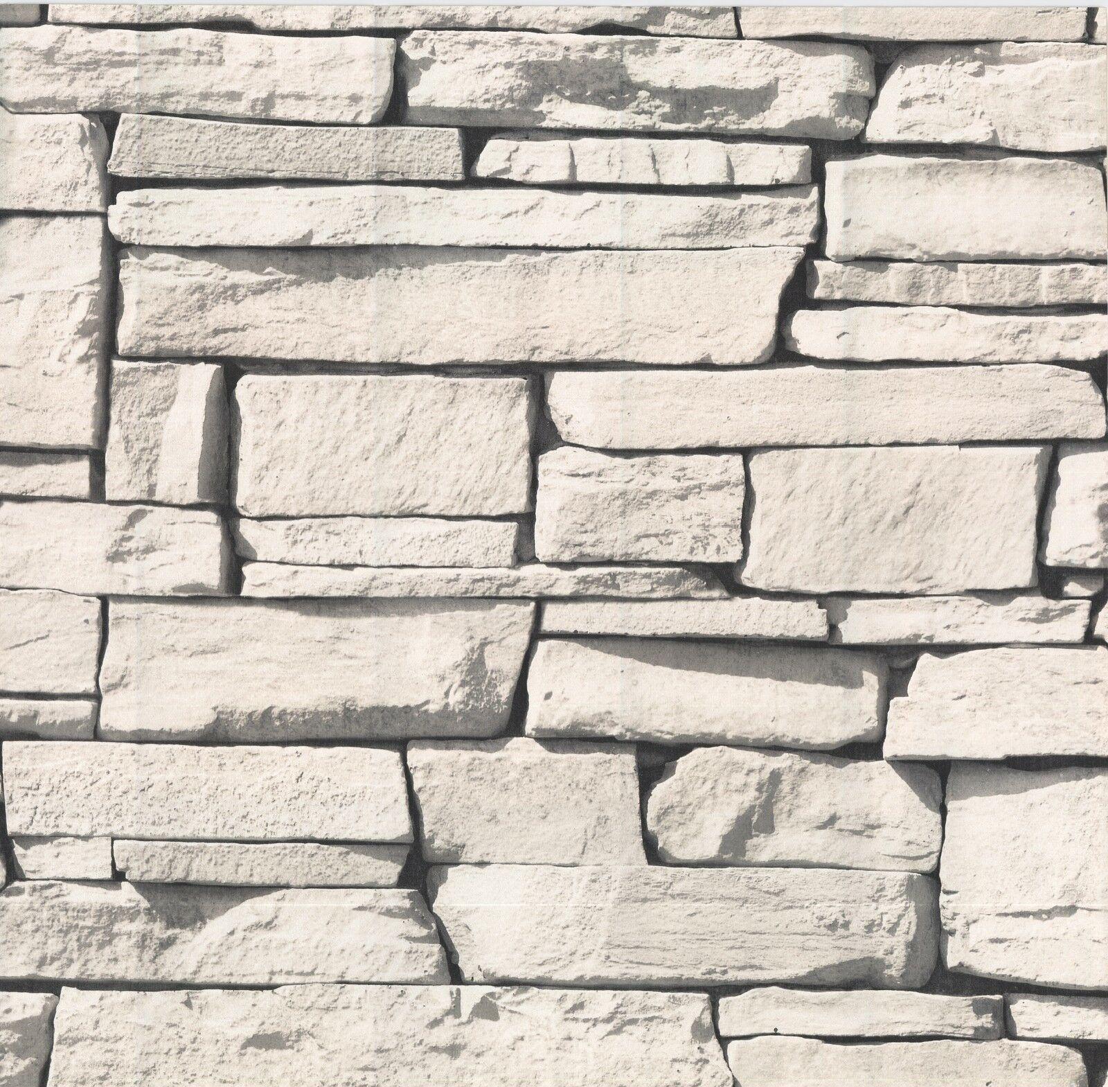 vlies tapete bruchstein stein mauer ziegelstein creme grau klinker grandeco kaufen bei. Black Bedroom Furniture Sets. Home Design Ideas