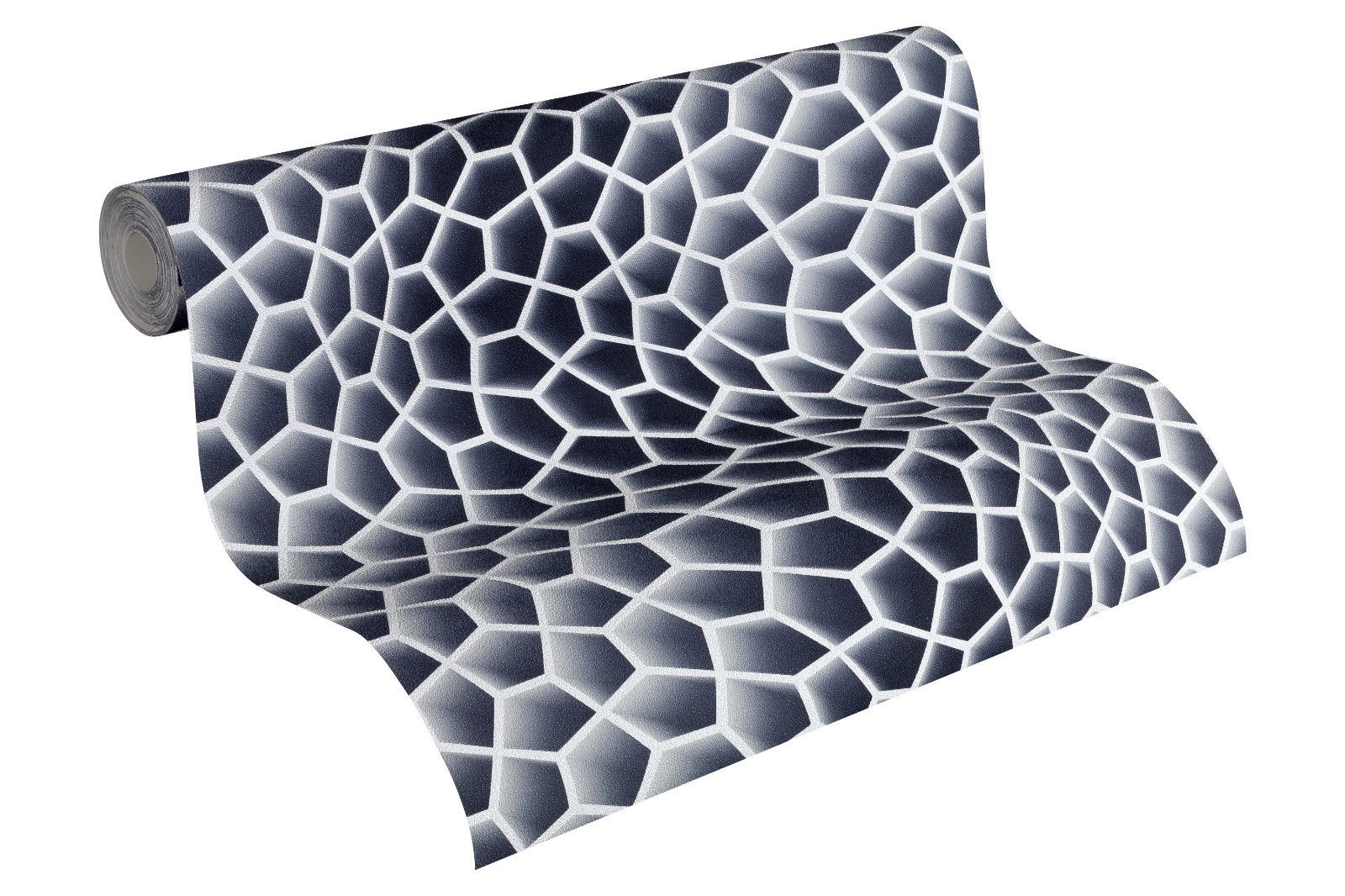 vliestapete retro 3d wellen muster grau waben design by mac stopa 32709 4 kaufen bei joratrend. Black Bedroom Furniture Sets. Home Design Ideas