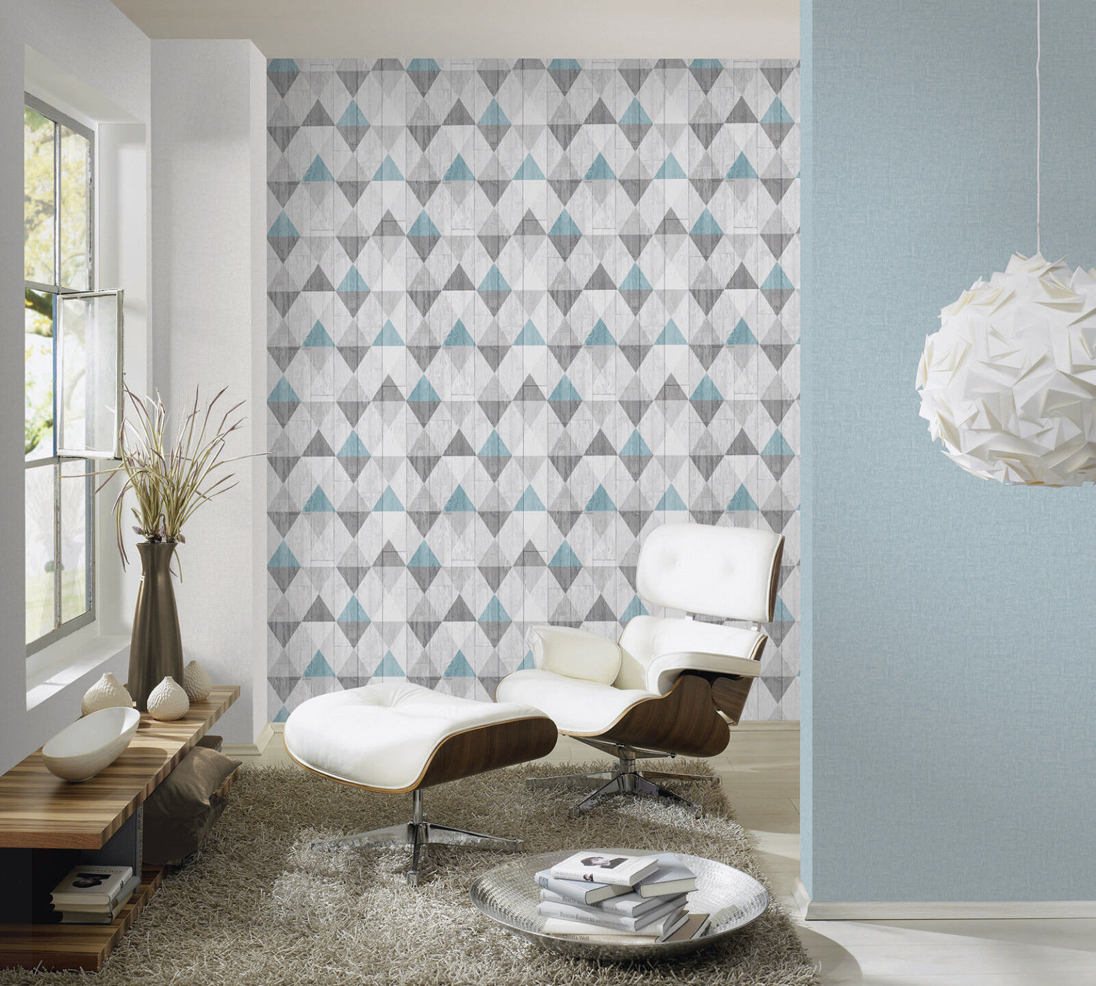 vlies tapete skandinavisch holzoptik paneele rauten karo muster t rkis blau grau kaufen bei. Black Bedroom Furniture Sets. Home Design Ideas