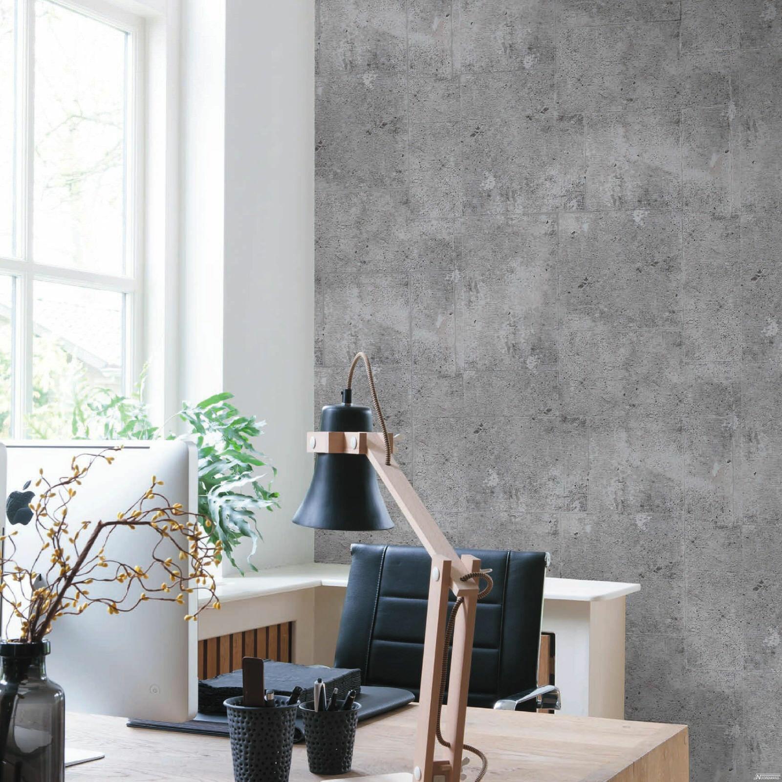 vliestapete beton optik hell grau / grau betontapete industrial loft