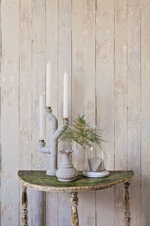 Vlies Tapete Antik Holz rustikal blau beige bretter verwittert shabby 36573-2
