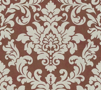 Barock Ornament Vlies Tapete rot beige Glitzer Trendwall 37270-5 / 372705