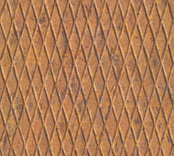 Vlies Tapete Riffelblech optik terra rost braun metall patina verwittert
