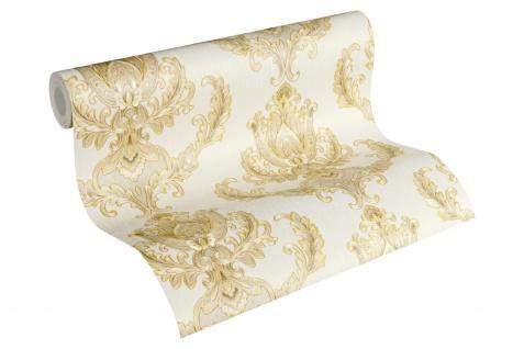 Luxus Vliestapete Floral Barock beige gold 33546-3 metallic Hermitage