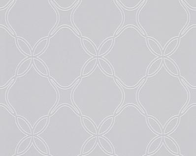 Vlies Tapete grafisches Ornament Muster grau weiß Schöner Wohnen Rauten