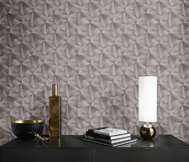 Vlies Tapete Design 3D Optik silber grau metallic glanz geometrisch 10106-34