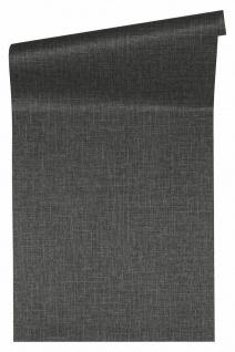 Versace 4 Luxus Uni Struktur Vlies Tapete schwarz grau metallic 962336