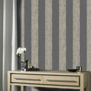 Vlies Tapete Streifen Struktur schwarz weiß gold metallic 104960 Mercury Stripe