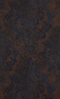 Vliestapete Neobarock Ornament braun blau Stein Beton Optik shabby 218794