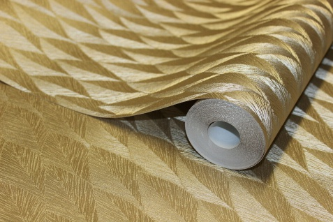 Guido Maria Kretschmer Vliestapete Gold metallic Glanz Federn Struktur 10049-30 - Vorschau 4