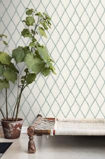 Vliestapete Rauten Muster creme weiß grün Struktur Tapete BN 219690
