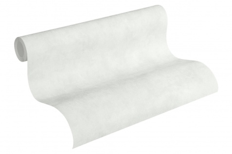 Vliestapete Uni Textil Optik weiß grau einfarbig Boho Love 36457-4