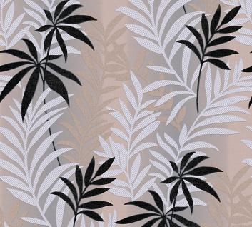 Jungle Tapete Florales Muster Farn braun grau schwarz metallic Kingston 324721