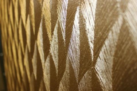 Guido Maria Kretschmer Vliestapete Gold metallic Glanz Federn Struktur 10049-30 - Vorschau 5