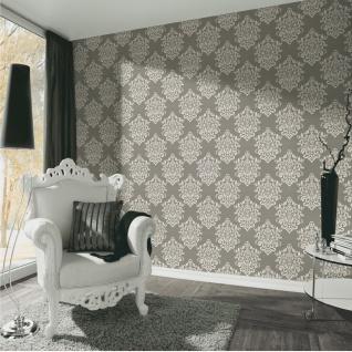 Luxus Vliestapete Barock Ornament taupe grau glanz metallic 34143-2 Hermitage - Vorschau 3