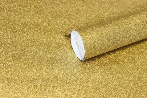 Vlies Tapete gold uni Struktur Hochwertige Qualität 1004-3 metallic - Vorschau 3