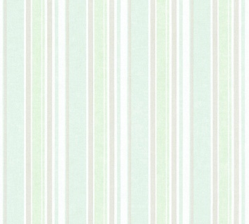 Vliestapete Kinder Streifen Muster weiß mint blau 35849-1 Little Stars boy girl