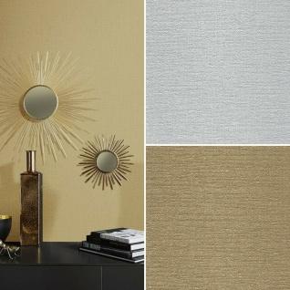 Vlies Tapete Uni Struktur einfarbig silber gold metallic glanz