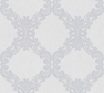 Vlies Tapete Barock Ornament weiß grau hell grau 36090-3 Elegance - 5th Avenue