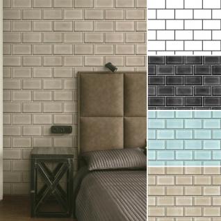 Vlies Tapete Backstein Ziegelstein Fliesen Muster Mauerziegel Brick Tile