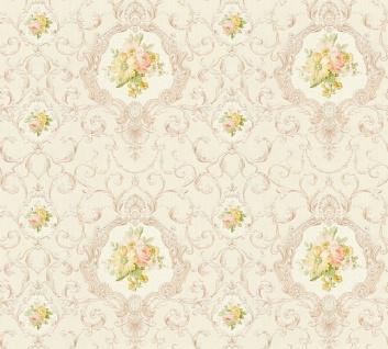 Vlies Tapete Ranken Barock Ornament Blumen creme beige glanz 34391-4 Chateau 5