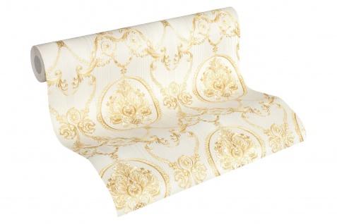 Luxus Vliestapete klassischer Barock creme gold metallic 33083-4 Hermitage