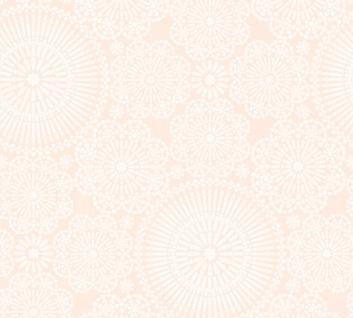 Vlies Tapete Blumen Kreise Mandala rosa weiß Cozz 36295-1