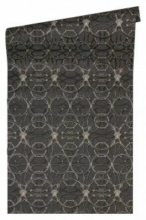 Versace 4 Vlies Tapete grafische Kreise Medusa schwarz metallic 370494