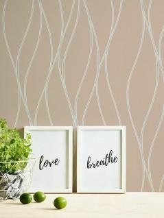 Vlies Tapete Linien Wellen beige silber metallic Trendwall 3713-31 / 371331