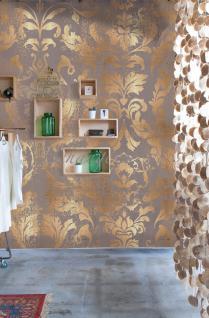 Vlies Foto Tapete Wandbild Barock Muster Ornament braun beige gold 200x300 cm