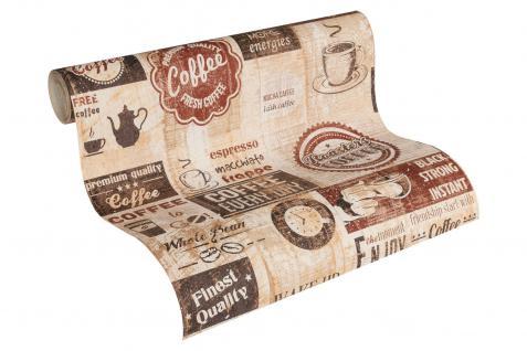 Papier Küchen Tapete Kaffe Coffee Cafe creme beige terra braun 33480-2