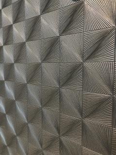 Geometrische Design Metall Stahl Optik Struktur Vliestapete silber grau CR3508
