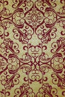 Vlies Tapete Barock Muster Ornament gold rot metallic 13511-30