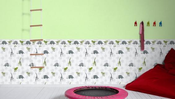 Vliestapete Kinder Uni hell grün einfarbig Little Stars 35834-3 - Vorschau 4