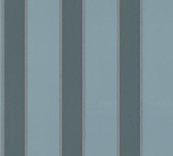Vlies Tapete Streifen blau petrol glanz metallic Architects Paper Alpha 33329-3