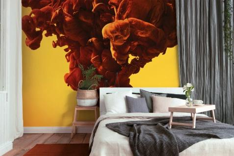 Fototapete Digitaldruck 3D abstrakte Kunst Rauch orange 255 x 350 cm DD118778