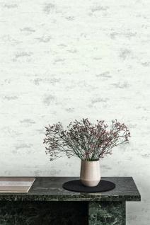 Vlies Tapete Beton Optik weiß silber grau modern look Stein Wand GT1204