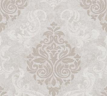Vliestapete Barock Ornament Glitzer grau creme 95372-8 Memory 3