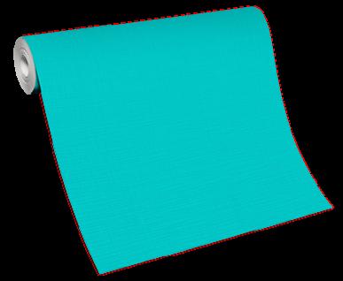 Vlies Tapete moderne Uni Struktur türkis einfarbig feine Linien 13082-18